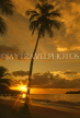 ST LUCIA, sunset and coconut tree, west coast, STL700JPL