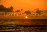 ST LUCIA, west coast beach, sunset and boats, ST753LJPL