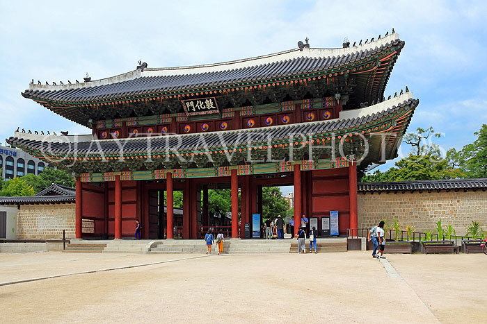 South Korea, SEOUL, Changdeokgung Palace, Donhwamun (Main Gate), SK209JPL