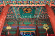 South Korea, SEOUL, Gyeonghuigung Palace, Sungjeongjeon (main hall),interior, ceiling, SK697JPL
