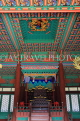 South Korea, SEOUL, Gyeonghuigung Palace, Sungjeongjeon (main hall),interior, throne, SK695JPL