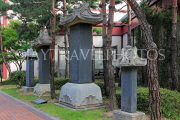 South Korea, SEOUL, Gyeonghuigung Palace, monuments to Joseon royal family at palace site, SK738JPL