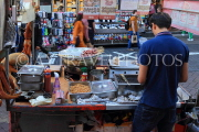 South Korea, SEOUL, Myeongdong, street food, food stalls, seafood and octopus, SK1326JPL
