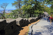 South Korea, SEOUL, Namsan Park, hiking paths, and old fortress wall, SK1246JPL