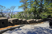 South Korea, SEOUL, Namsan Park, hiking paths, and old fortress wall, SK1248JPL