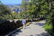 South Korea, SEOUL, Namsan Park, hiking paths, and old fortress wall, SK1249JPL