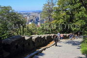 South Korea, SEOUL, Namsan Park, hiking paths, and old fortress wall, SK1250JPL