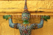 THAILAND, Bangkok, GRAND PALACE (Wat Phra Keo), Demon Guardian figure, THA2478JPL