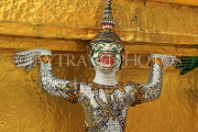 THAILAND, Bangkok, GRAND PALACE (Wat Phra Keo), Demon Guardian figure, THA2479JPL