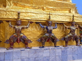 THAILAND, Bangkok, GRAND PALACE (Wat Phra Keo), Demon Guardian figure on chedis, THA1783JPL
