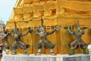 THAILAND, Bangkok, GRAND PALACE (Wat Phra Keo), Demon Guardian figures, THA2480JPL