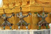 THAILAND, Bangkok, GRAND PALACE (Wat Phra Keo), Demon Guardian figures, THA2481JPL