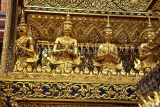 THAILAND, Bangkok, GRAND PALACE (Wat Phra Keo), Royal Chapel detial and figures, THA1799JPL