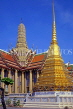 THAILAND, Bangkok, GRAND PALACE (Wat Phra Keo), buildings and chedi, THA1977JPL