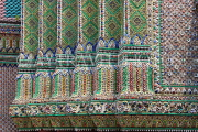 THAILAND, Bangkok, GRAND PALACE (Wat Phra Keo), decorative tile & mosaic work, THA2553JPL