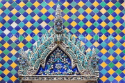THAILAND, Bangkok, GRAND PALACE (Wat Phra Keo), decorative tile work, THA2491JPL