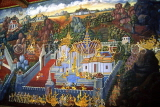 THAILAND, Bangkok, GRAND PALACE (Wat Phra Keo), gallery murals depicting Ramakien stories, THA16JPL