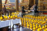 THAILAND, Bangkok, GRAND PALACE (Wat Phra Keo), offerings at Emerald Buddha Temple, THA1796JPL