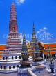 THAILAND, Bangkok, GRAND PALACE (Wat Phra Keo), temple buildings and chedis, THA690JPL