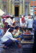 THAILAND, Bangkok, GRAND PALACE (Wat Phra Keo), worshippers with flower offerings, THA1978JPL