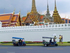 THAILAND, Bangkok, GRAND PALACE (Wat Phra Keo) complex, and Tuk Tuk taxis outside, THA2143PL