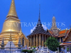 THAILAND, Bangkok, GRAND PALACE, left to right, Sri Ratna Chedi, Phra Mondop, Phra Thepbidon, THA674JPL