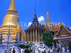 THAILAND, Bangkok, GRAND PALACE, left to right, Sri Ratna Chedi, Phra Mondop, Phra Thepbidon, THAJPL