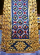 THAILAND, Bangkok, GRAND PALACE, mosaic encrusted gold lacqured detail on buildings, THA1310JPL