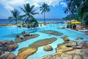 THAILAND, Ko Samui Island, Chaweng coast, view from Imperial Samui Hotel pool, THA327JPL