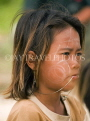 THAILAND, Koh Surin Island, Mokken sea gypsy girl, with paited face, THA2147JPL