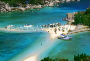 THAILAND, Koh Tao Island, beach with sunbathers and boats, THA1777JPL