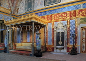 TURKEY, Istanbul, Topkapi Palace, The Harem, Imperial Hall, with Sultan's throne, TUR1035PL