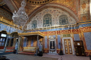 TURKEY, Istanbul, Topkapi Palace, The Harem, Imperial Hall, with Sultan's throne, TUR1036PL