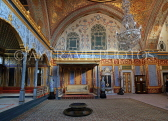 TURKEY, Istanbul, Topkapi Palace, The Harem, Imperial Hall, with Sultan's throne, TUR1038PL