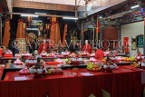 Taiwan, TAIPEI, Cisheng Temple, main hall with fruit offerings on display, TAW1366JPL