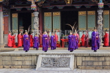 Taiwan, TAIPEI, Confucius Temple, and ancient ritual ceremony being performed, TAW1090JPL