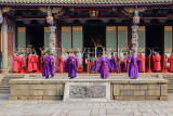 Taiwan, TAIPEI, Confucius Temple, and ancient ritual ceremony being performed, TAW1107JPL