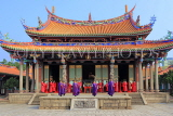 Taiwan, TAIPEI, Confucius Temple, and ancient ritual ceremony being performed, TAW1110JPL