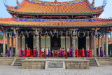 Taiwan, TAIPEI, Confucius Temple, and ancient ritual ceremony being performed, TAW1111JPL