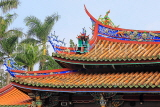 Taiwan, TAIPEI, Confucius Temple, temple buildings, roof detail, TAW1113JPL