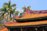 Taiwan, TAIPEI, Confucius Temple, temple buildings, roof detail, TAW1114JPL
