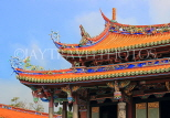 Taiwan, TAIPEI, Confucius Temple, temple buildings, roof detail, TAW1115JPL