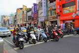 Taiwan, TAIPEI, street scene with mopeds stopped at traffic lights, TAW877JPL
