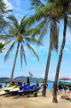 Thailand, PHUKET, Patong Beach, Jet Skis and coconut trees, THA4037JPL
