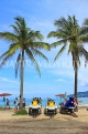 Thailand, PHUKET, Patong Beach, Jet Skis and coconut trees, THA4038JPL