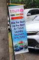 Thailand, PHUKET, Patong Beach, advertisement board for tourists, THA4043JPL