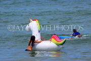 Thailand, PHUKET, Patong Beach, children at sea, playing with float, THA4200JPL
