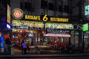 Thailand, PHUKET, Patong Beach area, restaurant front, night view, THA4167JPL