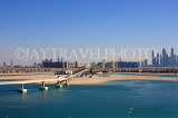 UAE, DUBAI, sea and view towards city centre, view from Palm Jumeirah, UAE466JPL