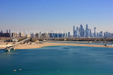 UAE, DUBAI, sea and view towards city centre, view from Palm Jumeirah, UAE467JPL